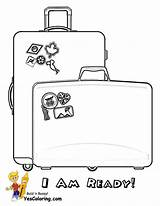 Coloring Cruise Ship Pages Luggage Colouring Sheets Vacation Yescoloring Spectacular sketch template