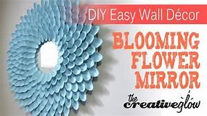 Diy blooming flower mirror nice decor very easy