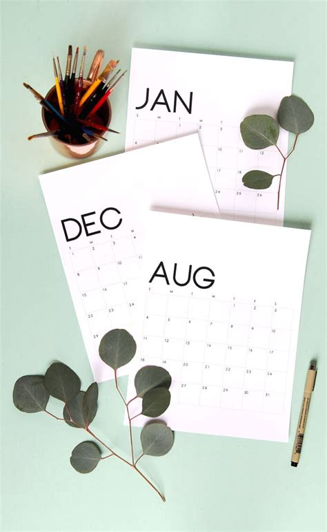 beautiful floral calendar monthly planner printables