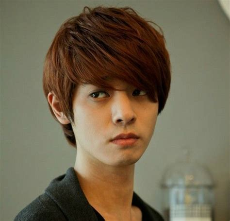 hot boys wig  fashion korean mens short light brown