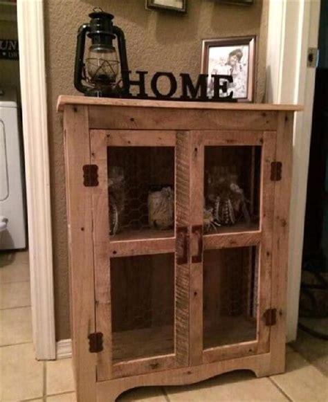 diy wood pallet cabinet ideas pallets designs