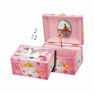 Boite Cadeau Bijoux : boite bijoux musicale licorne arc en ciel pour enfant cavacado ~ Teatrodelosmanantiales.com Idées de Décoration