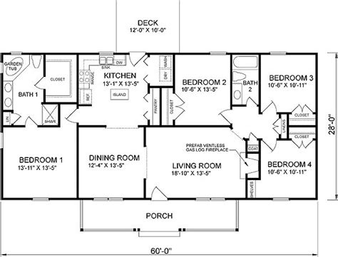 simple 4 bedroom house plans plan 46036hc country cottage home plan house