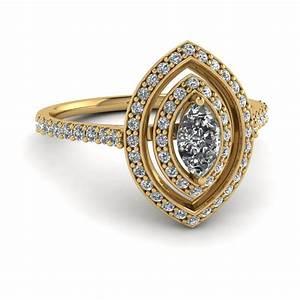 yellow gold marquise white diamond engagement wedding ring With gold marquise wedding rings
