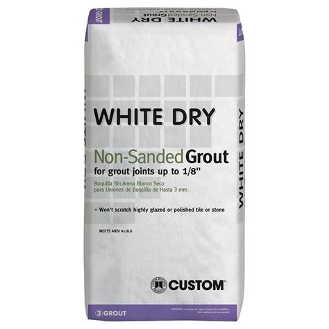 custom building products white 25 lb non sanded grout