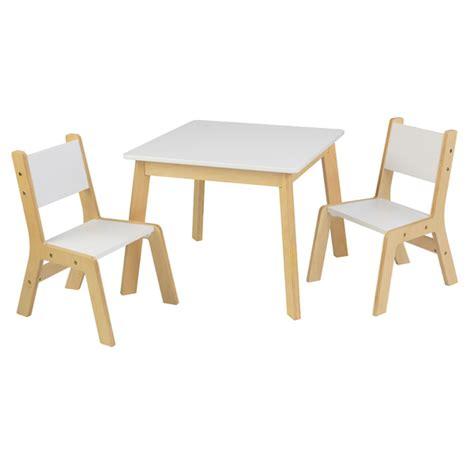 ensemble table moderne avec 2 chaises kidkraft king