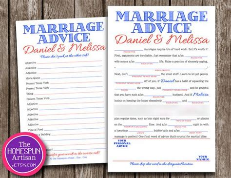 Marriage Advice Quotes For Bridal Shower by Wedding Libs With A Marriage Advice Story Line