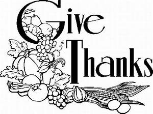 Give Thanks Black And White Clipart - Clipart Suggest