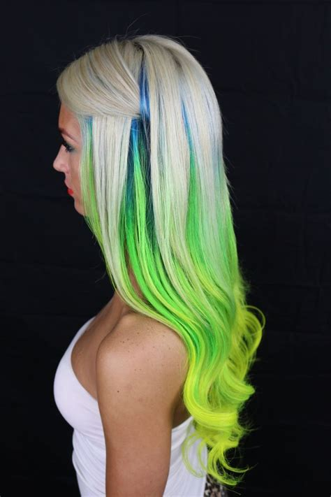 Best 25 Green Hair Streaks Ideas On Pinterest Streaks