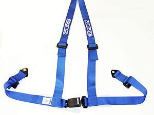 sparco racing 3 point bolt in 2 quot seat belt harness