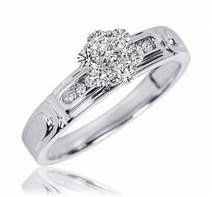 3 8 ct tw diamond women39s bridal wedding ring set 10k With diamond wedding ring sets for women