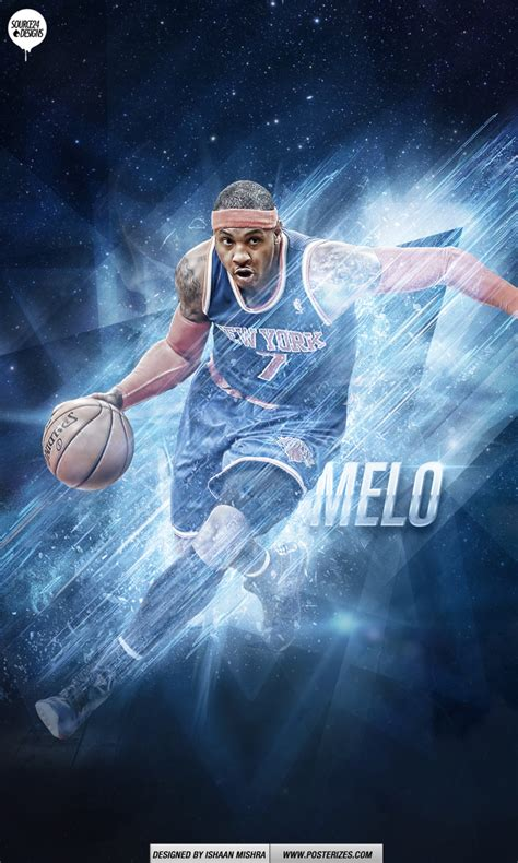 carmelo anthony playoff push wallpaper posterizes