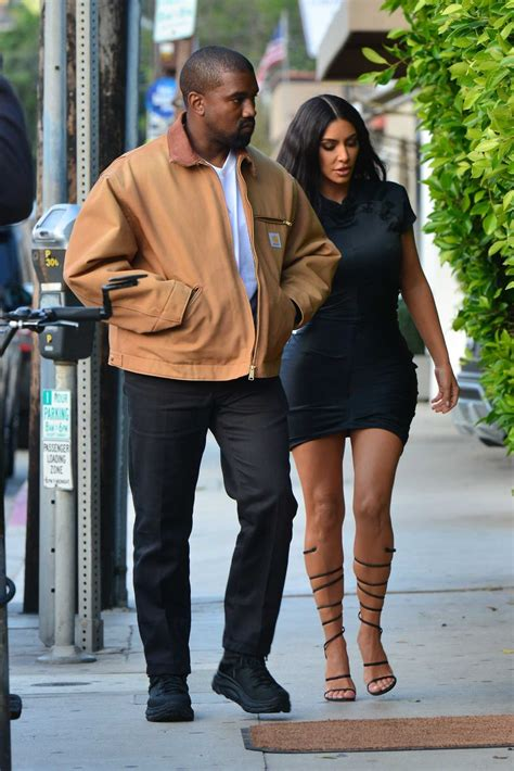 Kim Kardashian Out with Kanye West Arrives at Giorgio ...