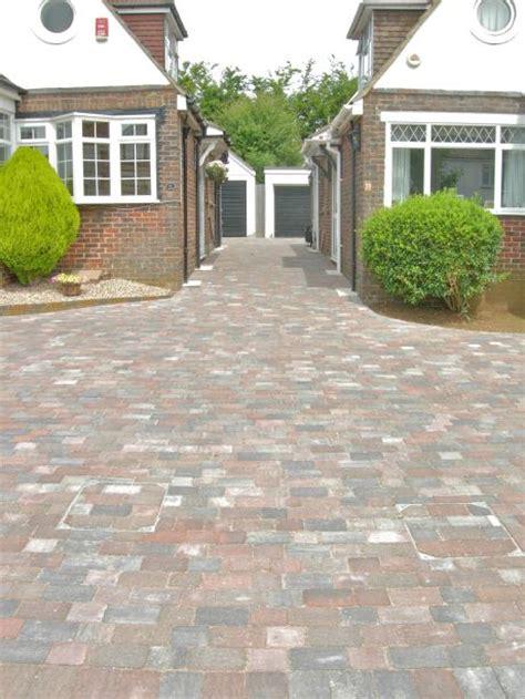 shared driveway block paved  rustic block coastal paving