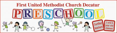 home united methodist church decatur 931 | fumc decatur preschool banner