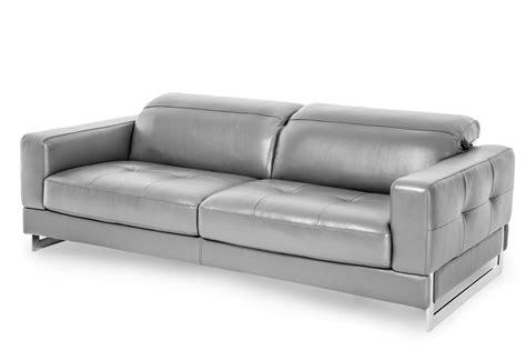 Michael Amini Mia Bella Dark Grey Modern Genuine Leather