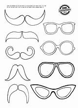 Coloring Moustache Glasses Mustache Eye Glass Printable Template Mirror Templates Crafts Eyes Pages Bunny Colouring Paper Clings Drawing Patterns Easter sketch template