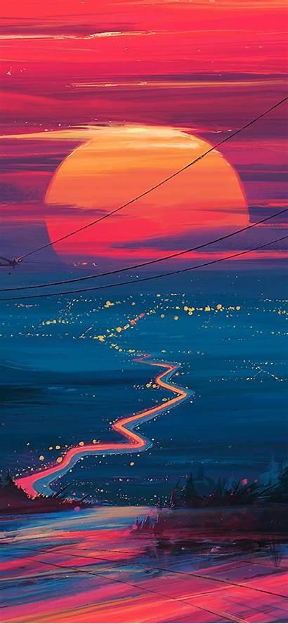 4k Iphone Wallpapers Landscape Sunset Portrait Horizon