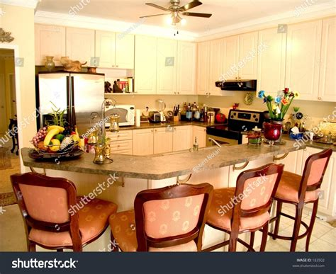 kitchen island table with 4 chairs modern kitchen with island table four chairs fridge 9418