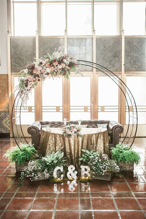 Circular Wedding Arch Re Purposed For Sweetheart Table