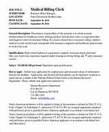Insurance Claims Clerk Job Description Pictures
