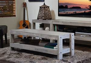 coastal gray beach house tv stand entertainment center With beach wood coffee table