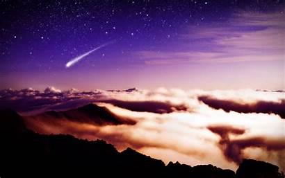Stars Wallpapers Shooting Star Sky Purple Galaxy