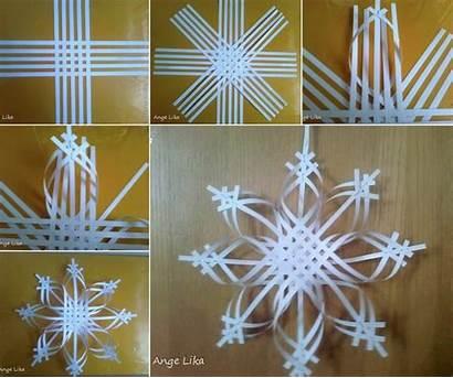 Snowflake Diy Star Woven Paper Ornament Wonderful