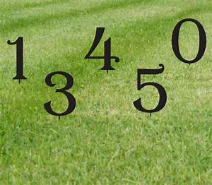 set of 1 lawn numbers house numbers giant numbers With metal outdoor letters and numbers