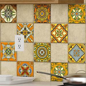 Art Et Carrelage : 9 stickers carrelages azulejos ornements mosa ques anciens ~ Melissatoandfro.com Idées de Décoration