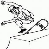 Skateboard Coloring Pages Printable Skateboarding Skateboards Labels Sports Getcoloringpages sketch template