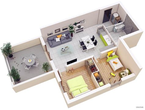 25 More 2 Bedroom 3d Floor Plans by 25 More 2 Bedroom 3d Floor Plans Amazing Architecture