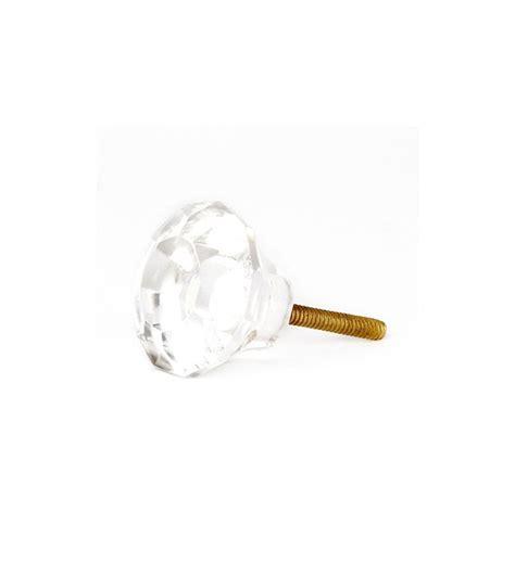 bouton de porte de cuisine bouton de meuble shabby transparent en verre boutons