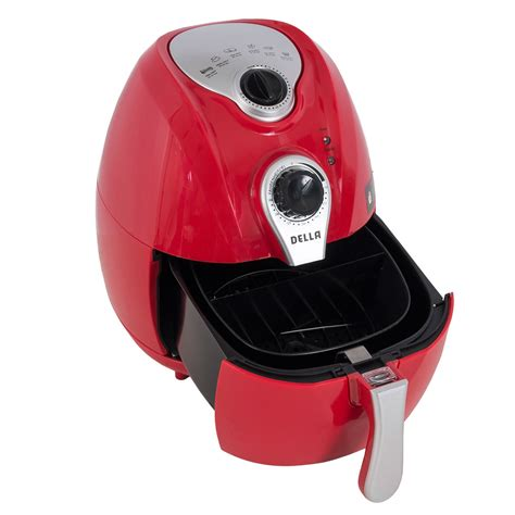 fryer air oil deep temperature control electric system qt 1500w airfryer handle basket della carry fryers cooking healthy sell