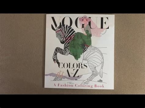 colors a to z vogue colors a to z a fashion coloring book flip through