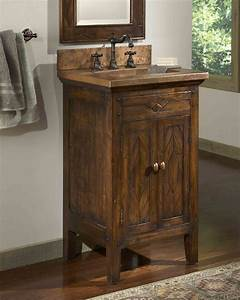 Rustic bathroom vanities for a casual country style in for Spa style bathroom vanity