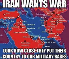 Image result for us military bases surrounding iran