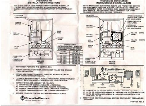 Water Wiring Diagram 230v by Franklin Kit For 1 2 Hp 230v Box Part