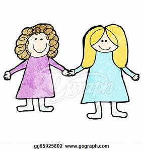 Sisters Holding Hands Clipart (21+)