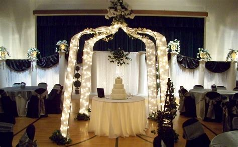 simply enchanting event black white silver wedding decoration