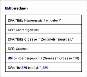 Bmi Formel Berechnen : sind struktogramme hilfreich der technikblog ~ Themetempest.com Abrechnung