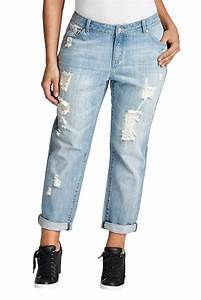 Plus Size Boyfriend Jean in Light Blue u2013 MYNT 1792
