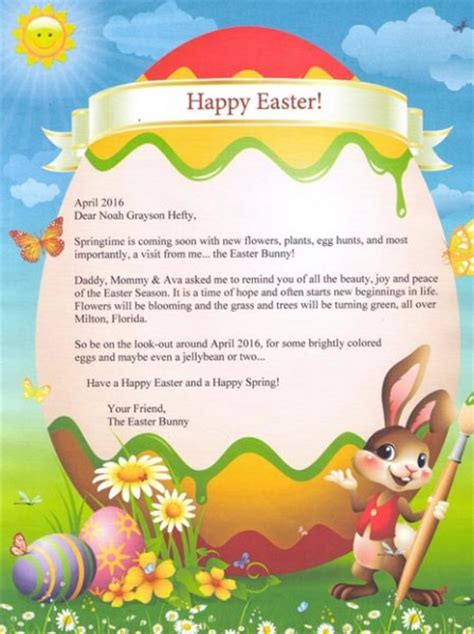 Letter To Easter Bunny Template by Letter From The Easter Bunny Mycreativebooks