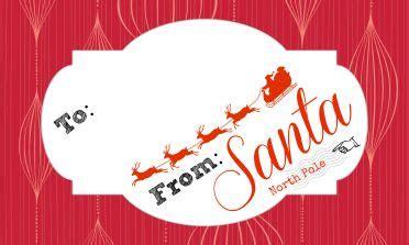 printable  santa gift tags santa gift tags