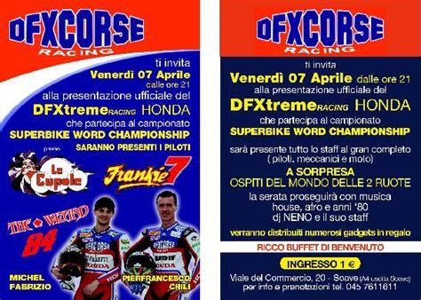 Le Cupole Soave by 7 Aprile Presentazione Team Dfx Corse Superbike Honda