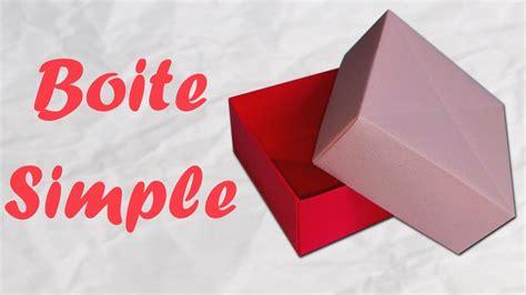 Boite En Papier Simple Et Rapide