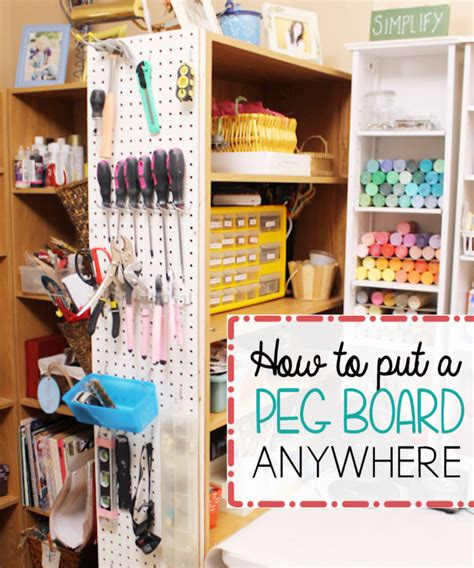 hang pegboard   organized