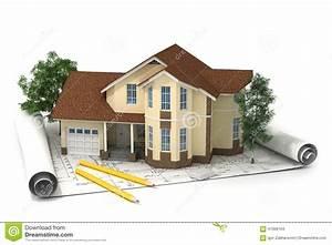 Plan De Construction : plan de construction avec la maison et le bois 3d ~ Premium-room.com Idées de Décoration