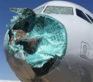 U2018scariest Flight Of My Life U2019  Hail Smashes Nose Of Plane