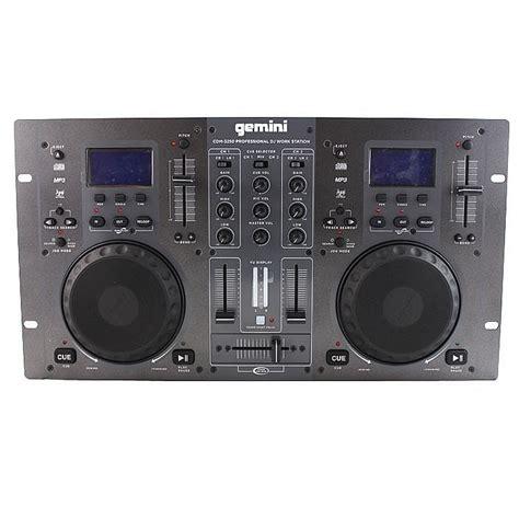 console gemini gemini gemini cdm3250 dual cd mixing console vinyl at juno